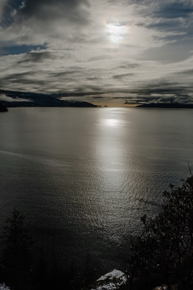 Diminished Light, Howe Sound, Sea to Sky Highway, British Columbia, Canada copy