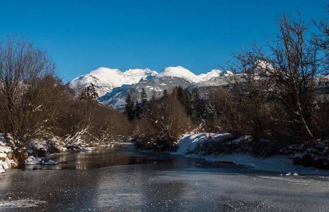 Frozen, Mount Weart, Armchair Glacier, River of Golden Dreams, Whistler, British Columbia, Canada