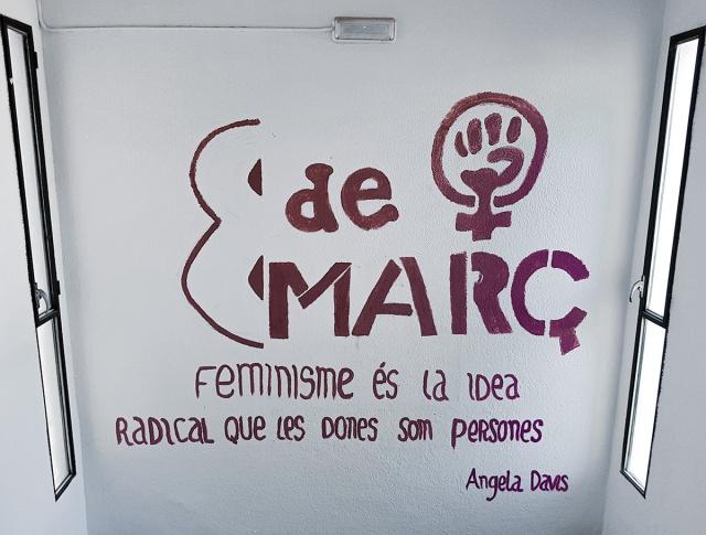 8th of March, Barcelona, Spain, Feminist Demonstration Poster