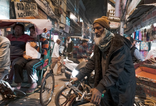 Burdens, Bicycle Rickshaw Driver, Chandni Chow, New Delhi, India