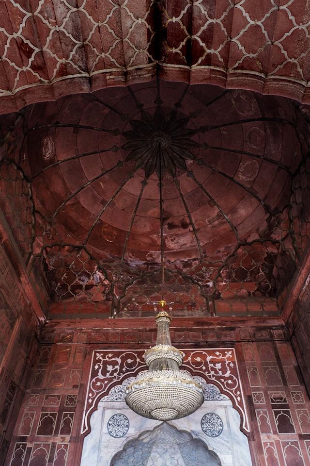 Chandelier, Jama Masjid Mosque, Chandni Chowk, New Delhi, India