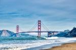 Golden Gate Bridge, Baker Beach, San Francisco, California, United States of America
