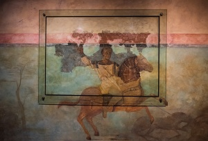 Roman Horseman Fresco, The Museum of Barcelona, Catalonia, Spain