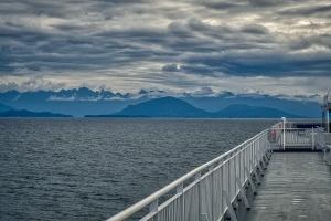 Layers: Sea, Peaks and Sky, BC Ferries, Nanaimo to Horseshoe Bay, The Strait of Georgia, British Columbia, Canada