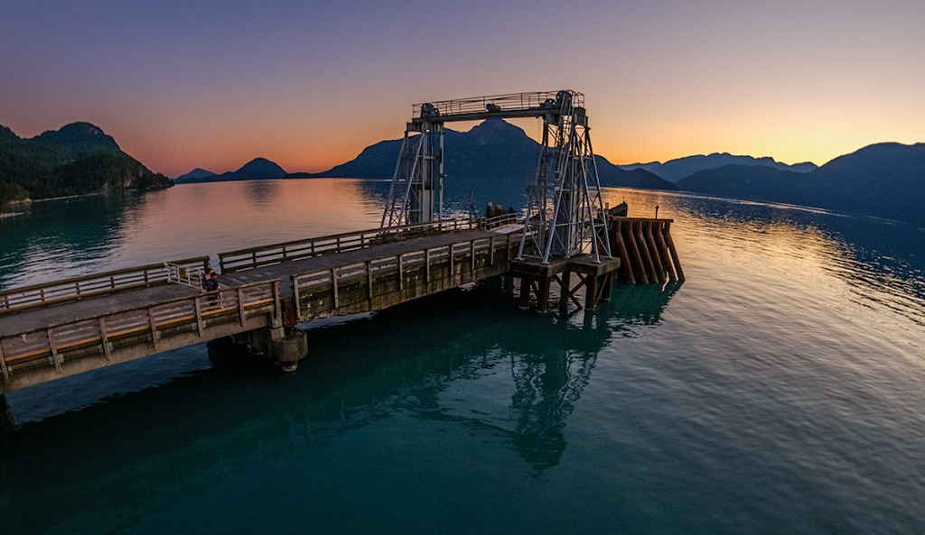 Sunset, Porteau Cove, Sea to Sky Highway, Howe Sound, British Columbia, Canada