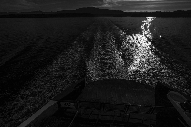 Wakes, BC Ferries, Nanaimo to Horseshoe Bay, Strait of Georgia, British Columbia, Canada